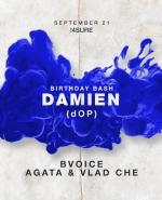 Damien (dOP) @ Kotelnaya, 21 сентября 2019 г - Новость