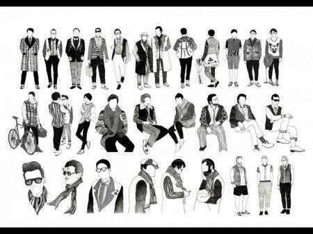 Предметом проекта человка под именем Senghye Yang является мужская мода. Иллюстратор всегда был заинтересован идеей моды как средством самовыражения